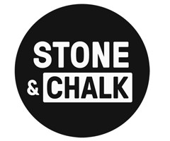 Stone & Chalk logo black circle white text