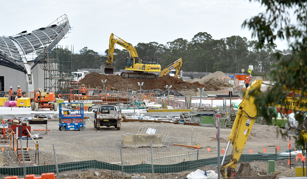 Construction site in North West Sydney