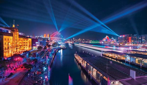 Vivid Sydney 2018 at Circular Quay.