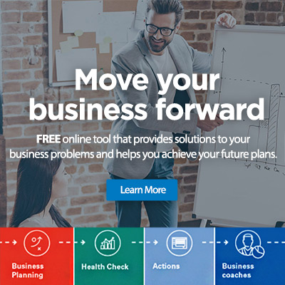 Move your business forward: free online tool that provides solutions to your business problems and helps you achieve your future plans