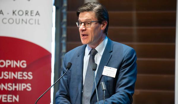 Parliamentary Secretary to the Premier and Treasurer Jonathan O'Dea MP at Korea-NSW business forum.