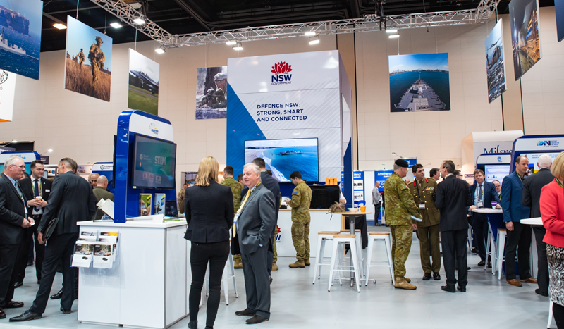 Defence NSW stand at Land Forces 2018