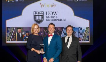 UOW Global Enterprises, Education and Training award winner at the Premier's NSW Export Awards